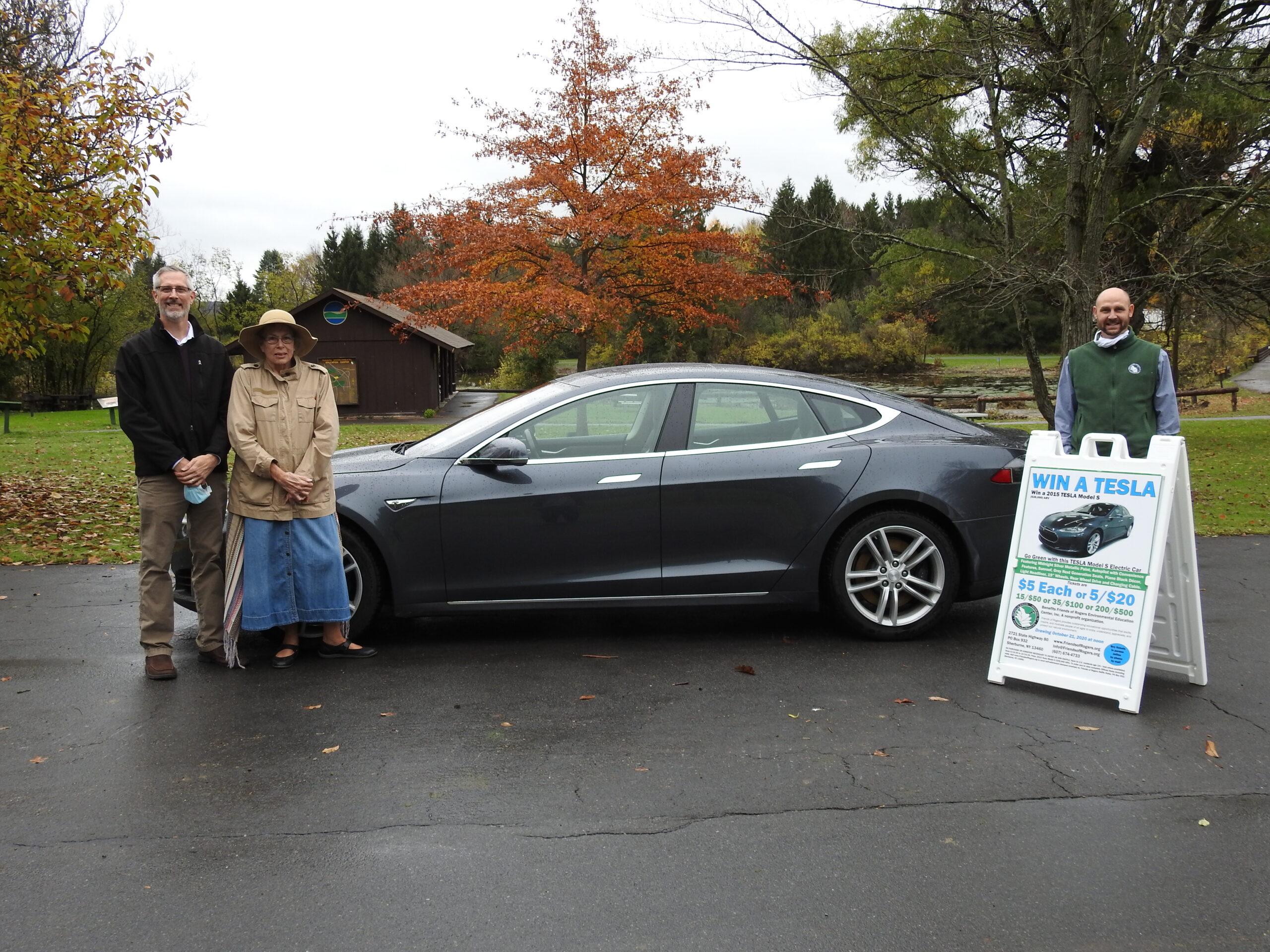 The Winner of the Tesla is Virginia Huerfeld of Glenmont, NY.