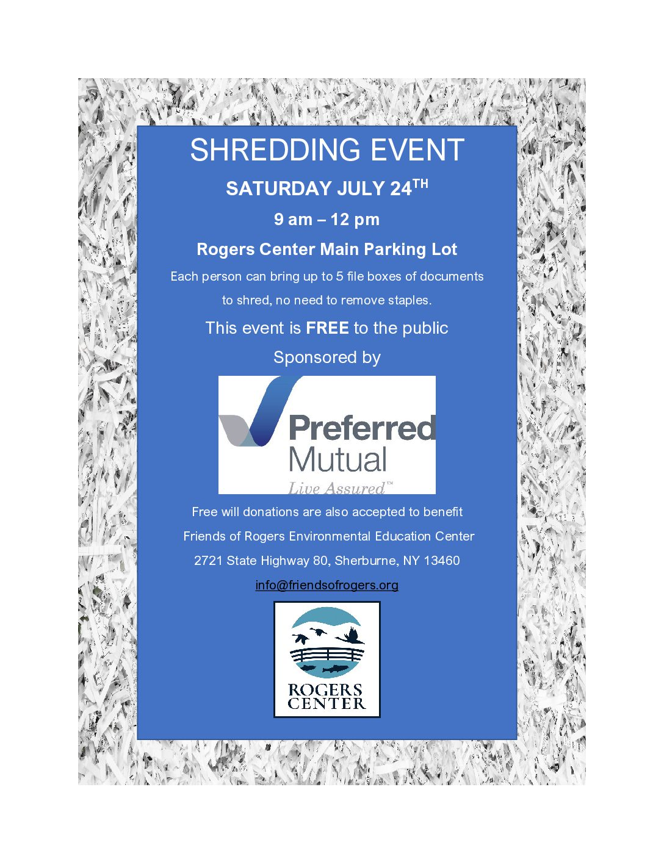Shredding Event July 24, 2021